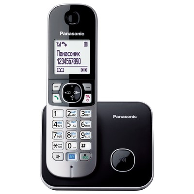 Аппарат телефонный Panasonic KX-TG6811RUB черно серый
